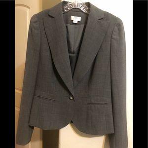 LOFT Ann Taylor gray blazer